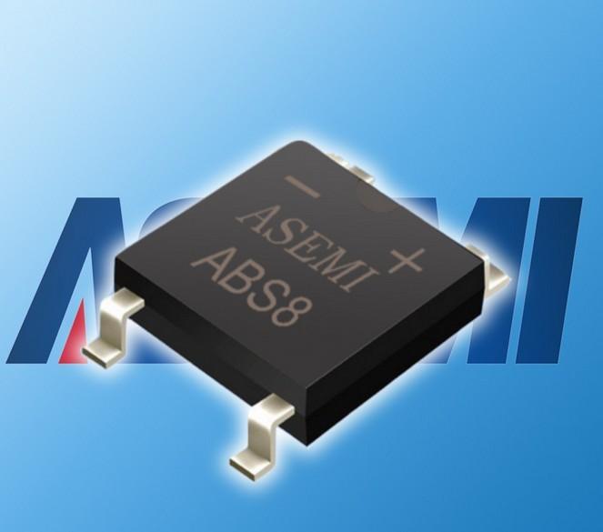 整流作用,就是将桥式整流电路集成到1个芯片里,整流桥贴片abs8的电流